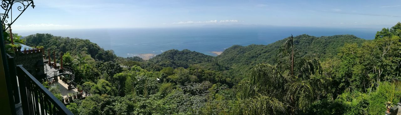Panoramic Photography Ocean View Nature Village Costa Rica Golfo Travel Destinations Horizon Over Water