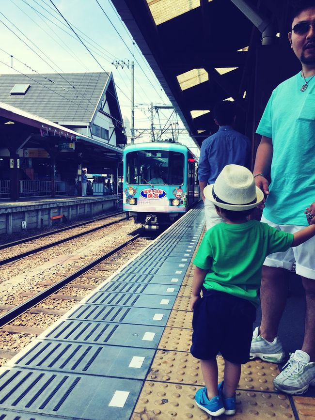Enoden♪ 江ノ電 Boy Followme WithMyDaddy 江の島 鎌倉 Enoshima Kamakura