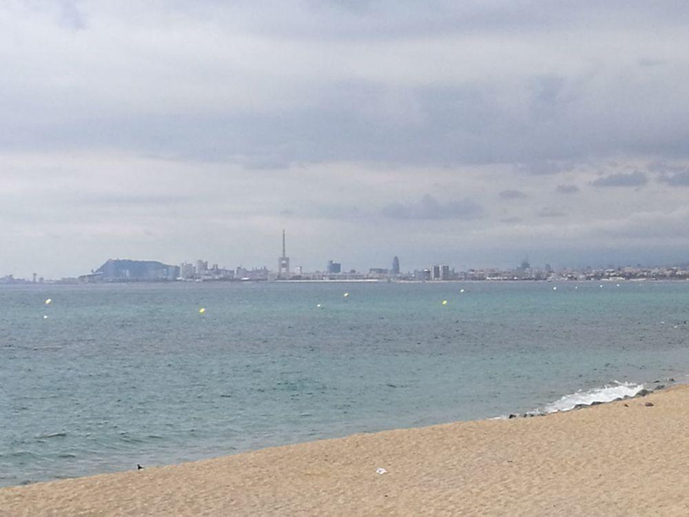 Barcelona Beach Sand Water Outdoors Cıty City Landscape Solidarity People No Tinc Por