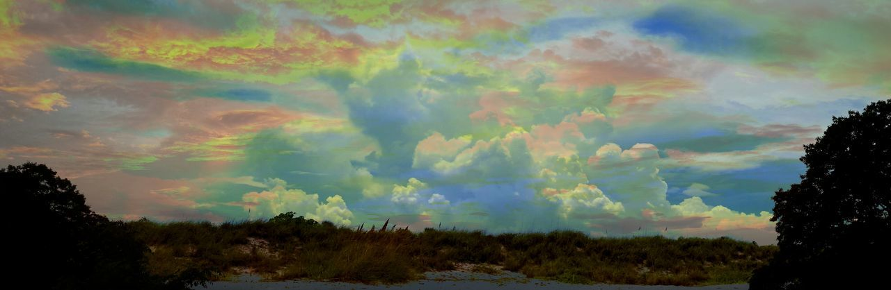 Shenandoah National Park Sunset over a Florida Cloudscape and I always thought I could never Create Art My Artwork it ain't photoshop, but It'll Do Sillhouette Focus On Background Clouds And Sky Pivotal Ideas Colour Of Life Double Exposure