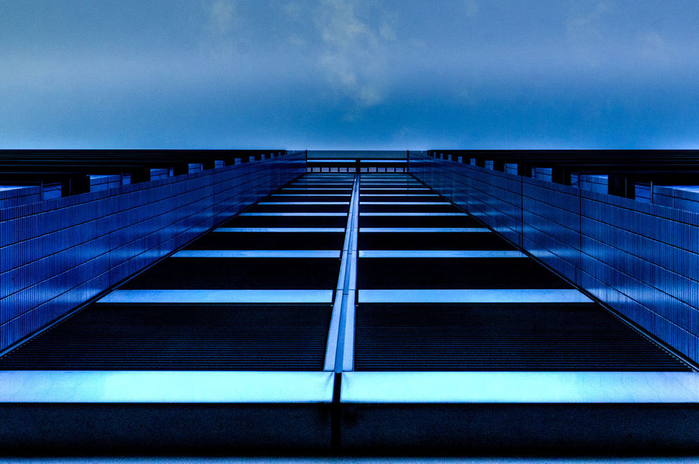 catalytic catapult Architecture Blue Building Built Structure Catalyst Catapult City Cloud Cloud - Sky Cool Diminishing Perspective Modern No People Office Building Repetition Sky Urban