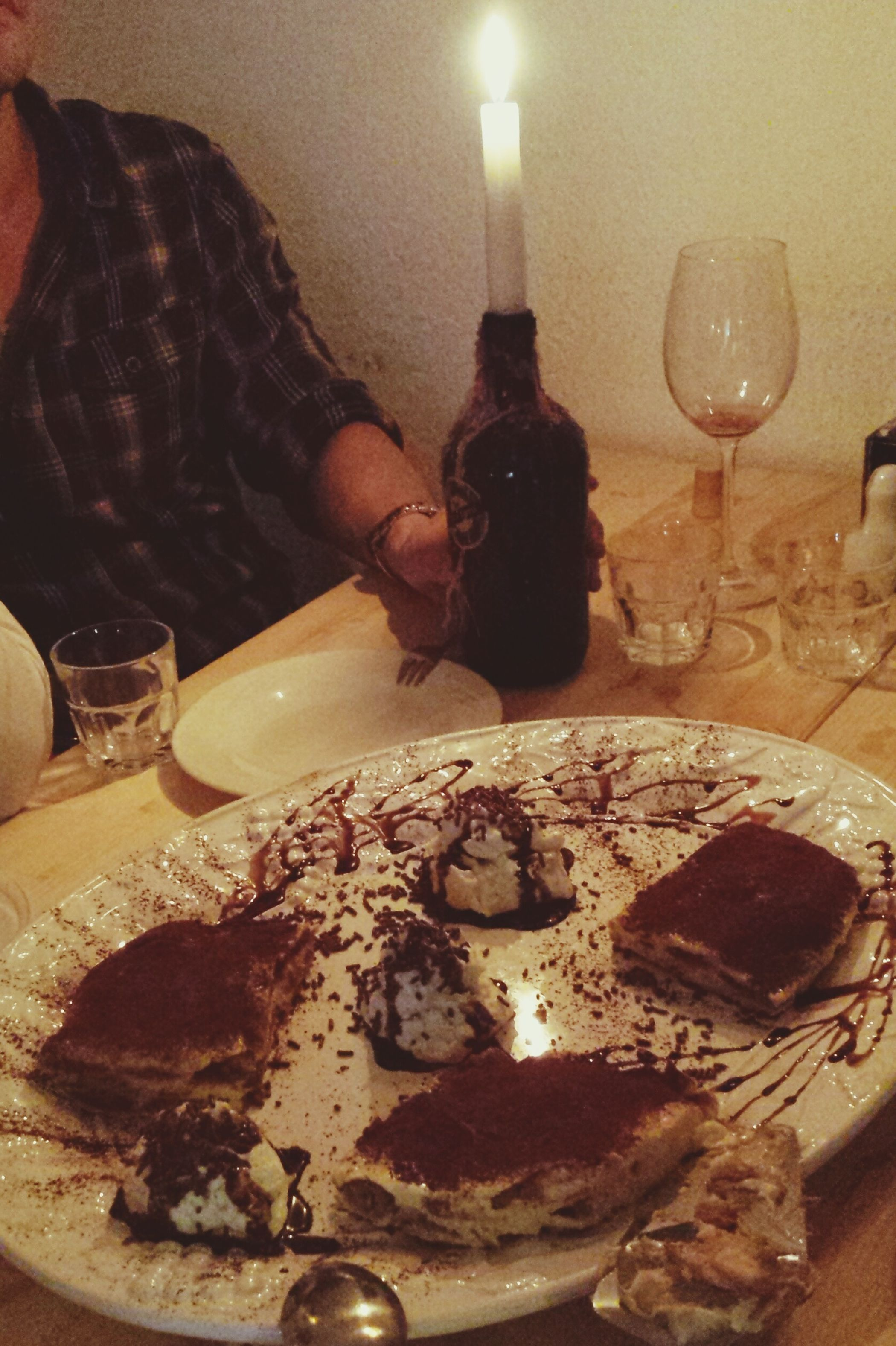 Dinner with friends Tiramisu Wine Lemoncella