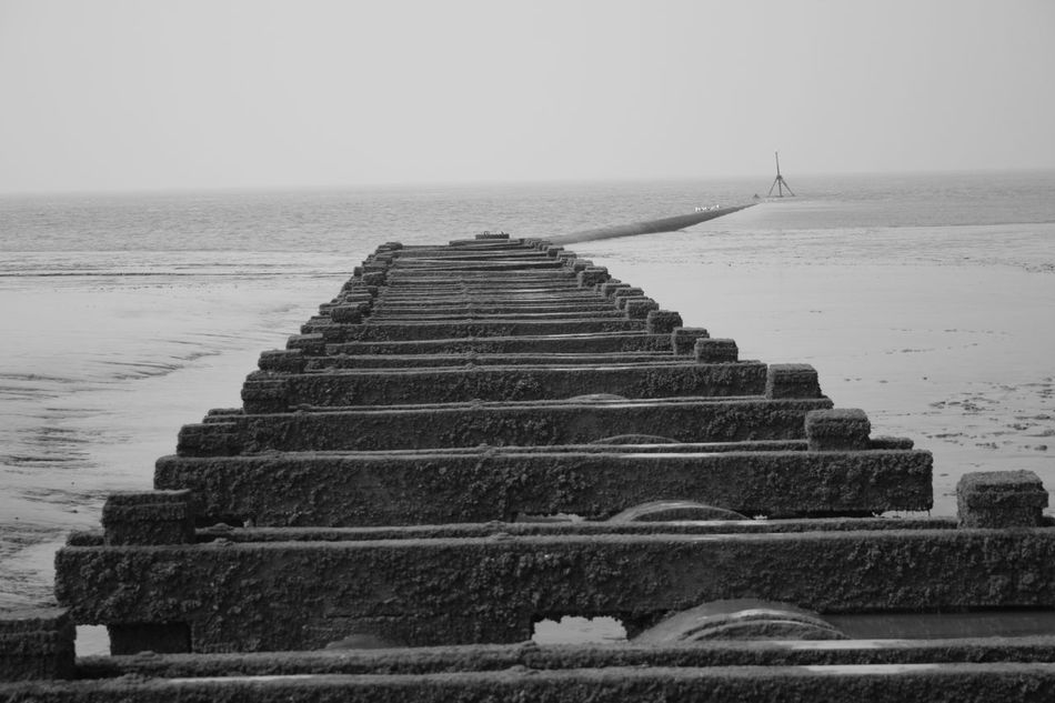 Beach Beach Photography Blackandwhite Crosby Beach Day Horizon Over Water Liverpool Liverpool, England Monochrome Nature No People Outdoors Scenics Sea Sky Tranquil Scene Water Welcome To Black Long Goodbye
