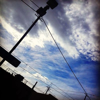 clouds and sky at Burnley Station by Adriana