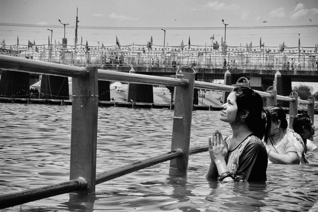 When you can't put your prayers into words, God hears your heart.😇 Ujjainmahakumbh Ujjain Kshipra River Simhasthujjain2016 Prayers Spirituality Holy City Praying Lady