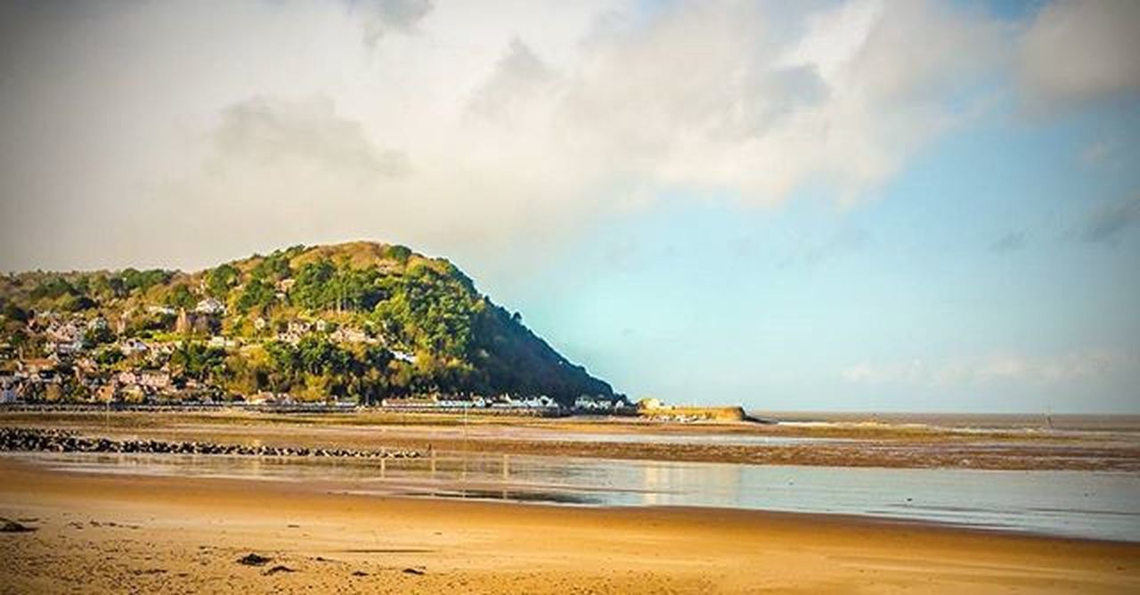 A picture from Christmas at Minehead Christmas2015 Familyholiday Landscape Beach Bluesky Amaturephotography Coldday Tideout Reflection