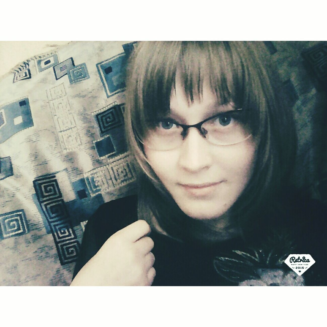 First Eyeem Photo очкарик😂👍 улыбка синие волосы Nocrop👌🙏😀
