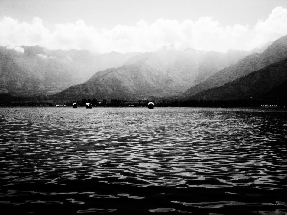 Water Rippled Lake Mountain Outdoors Travel Destinations Nature No People Beauty In Nature Nautical Vessel Sky Day JammuandKashmir Blackandwhite