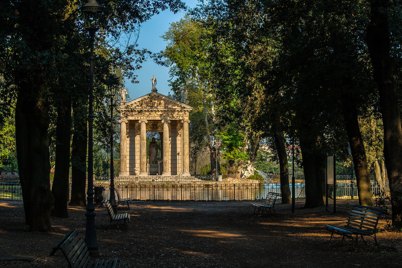 Ancient Civilization Architectural Column Beauty In Nature Esculapio From My Point Of View Historical Building History Learn & Shoot: Leading Lines Rome Rome Through My Eyes Rome, Italy Temple Temple - Building Travel Destinations Villa Borghese Villa Borghese Park
