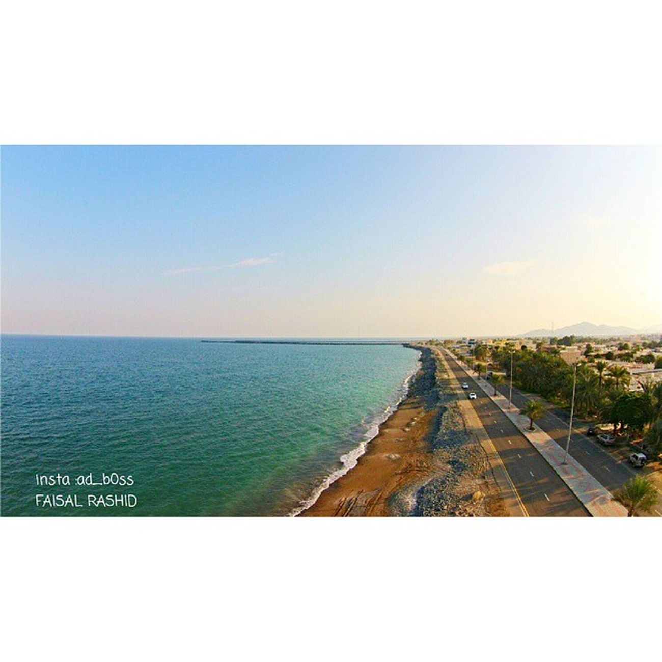 Kalba corniche Dji Phantom Plus 2vision kalba uae beach adboss