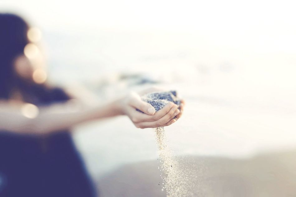 Beautiful stock photos of sand, Beach, Day, Falling, Hands Cupped