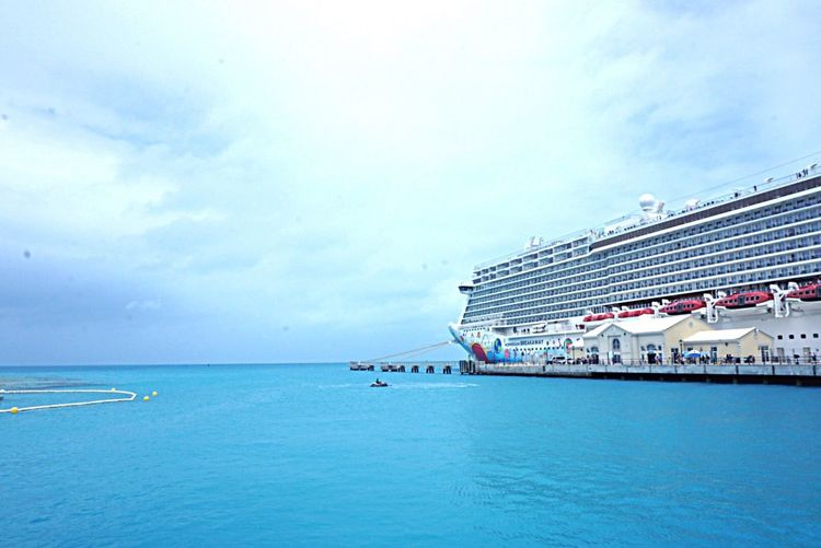 Sea Water Sky Horizon Over Water Waterfront Cloud - Sky Cloud Scenics Day Tranquil Scene Cloudy Seascape Blue Tranquility Outdoors Tourism Beauty In Nature No People Coastline Ocean Bermuda Beach Photography Cruise Ship