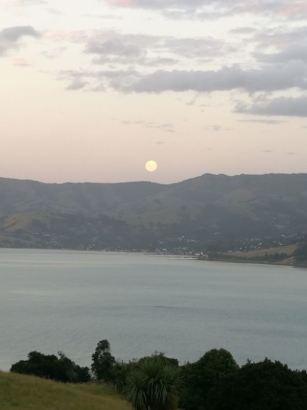 Full Moon🌝 Love The Moon Outdoors Tranquility Sunset No People Silence Space Sky Landscape Beauty In Nature