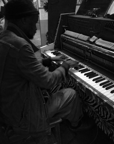 Music Piano One Person Pianist Real People Arts Culture And EntertainmentMusical Instrument Musician Artist Playing One Man Only Black & White Geneve, Switzerland Ismael