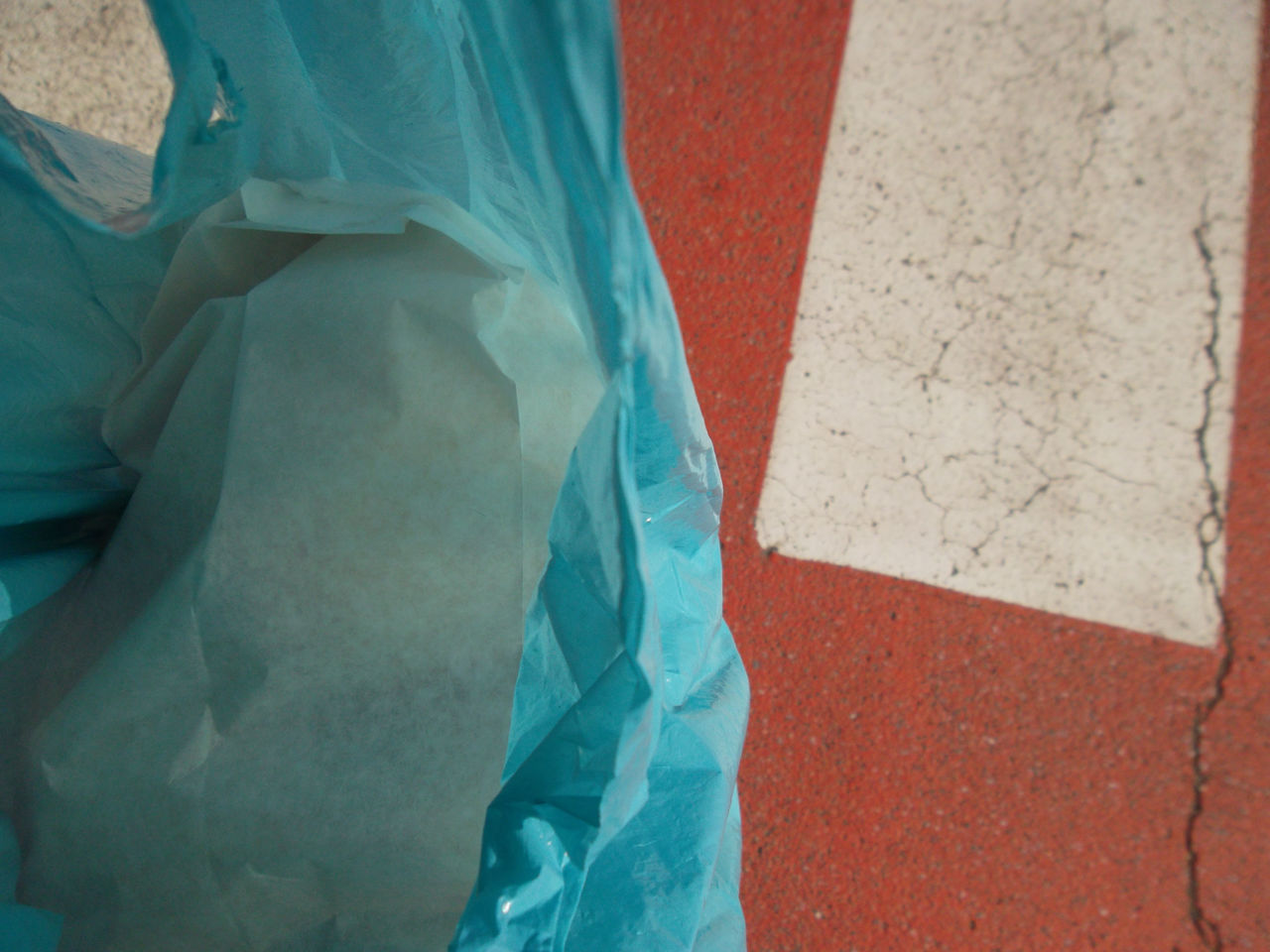 Walking with a bread bag ... Close-up Day Fabric No People Outdoors Pedestrian Crossing Pedestrian Walkway Street Photography Textile