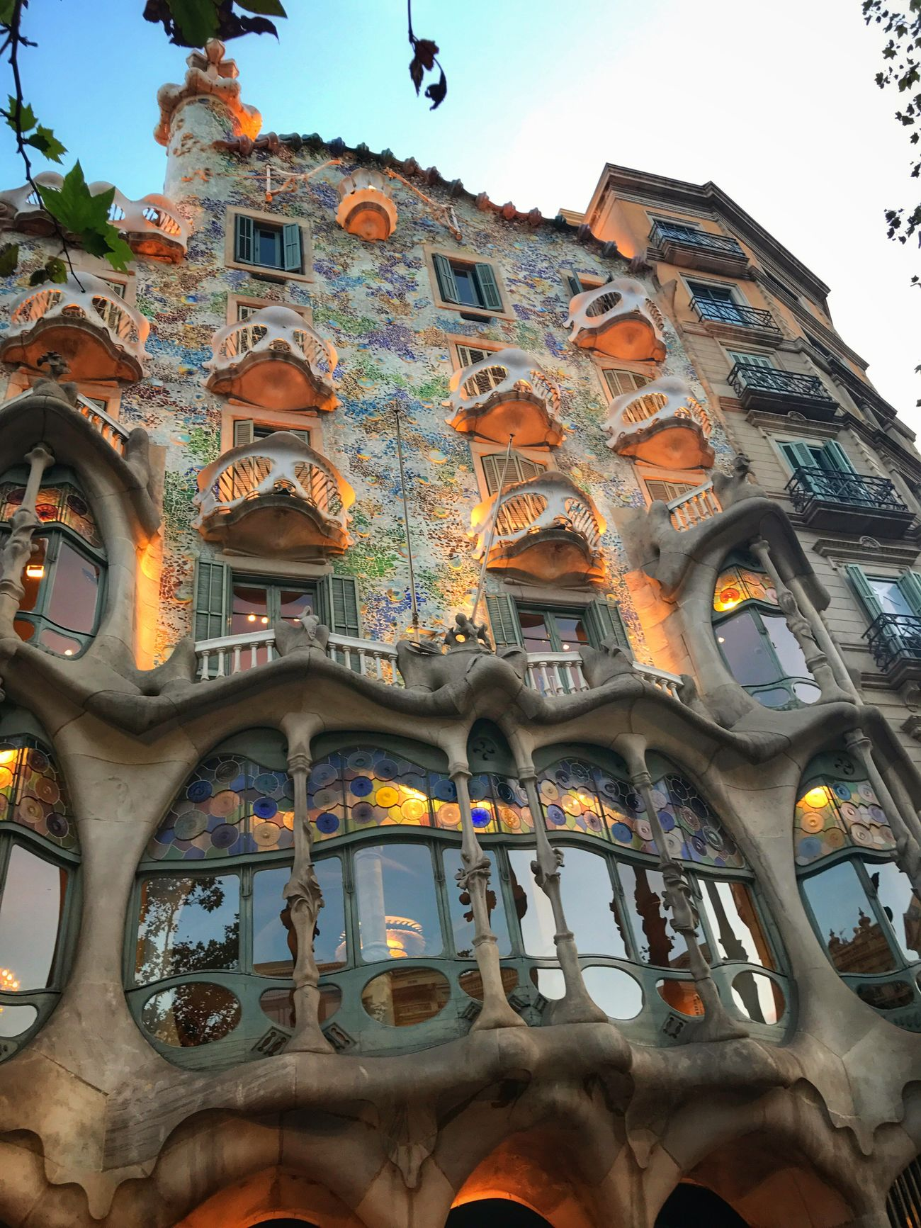 Casa Batlo designed by Antoni Gaudi Barcelona Low Angle View Architecture Built Structure Building Exterior Day Outdoors City No People Sky SPAIN Catalunya Catalonia Barcelona EyeEm Selects City