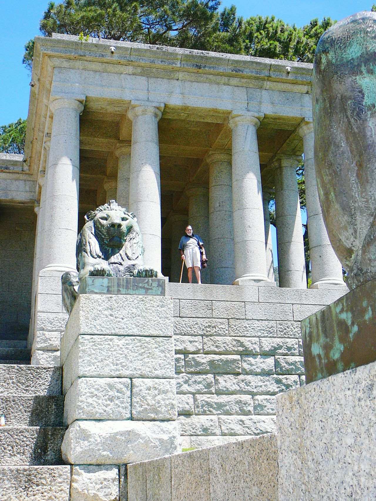 Feeling Rather Insignificant, Rhodes Memorial ~ Self Portrait Photographer In The Shot Real People Architectural Column Architecture History Outdoors Travel Destinations Built Structure Adult Cape Town Rhodes Memorial Devil's Peak South Africa South Africa Is Amazing Western Cape Statue Colossus