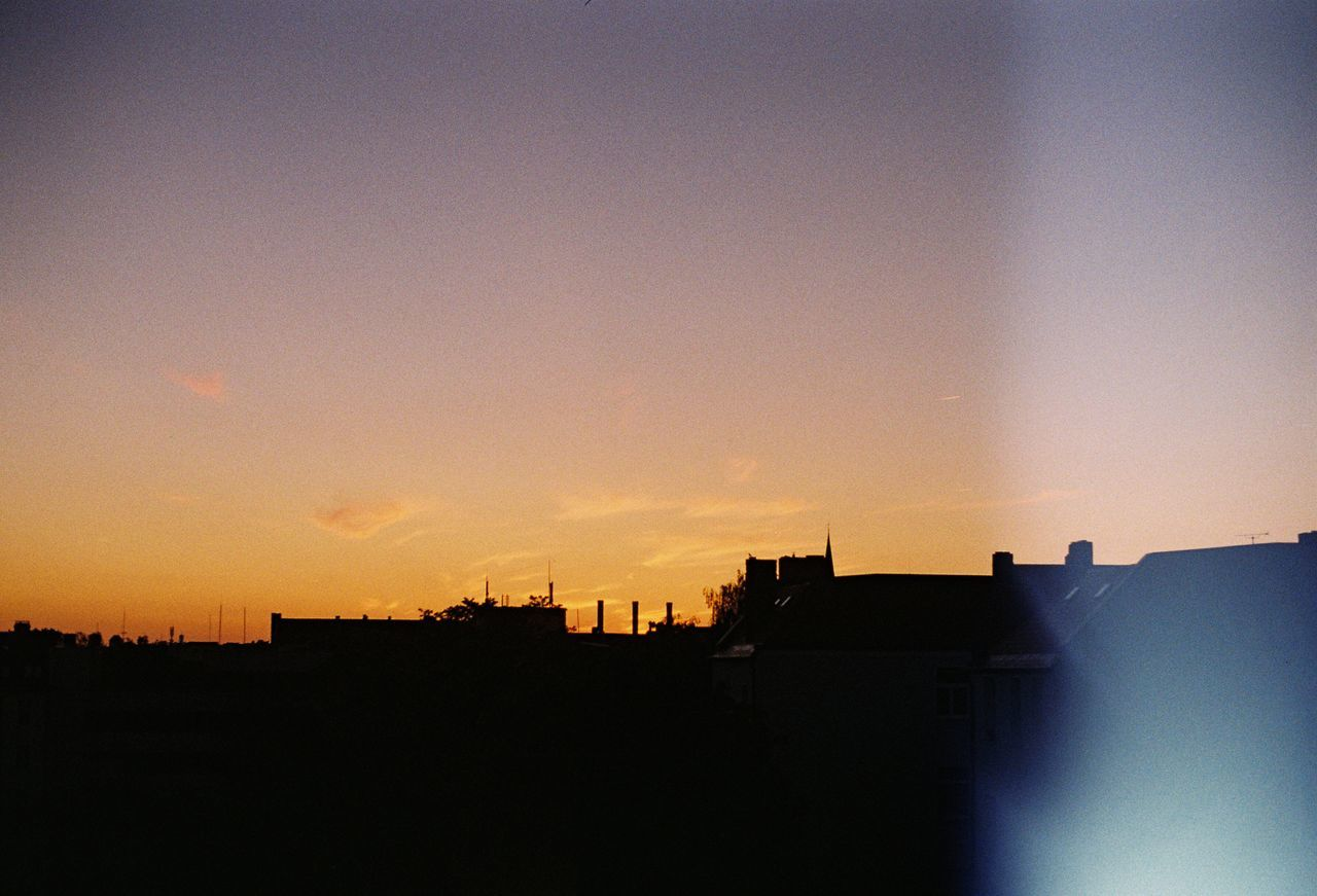 silhouette, architecture, sunset, building exterior, built structure, no people, city, nature, outdoors, cityscape, sky