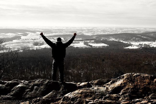 Overcomer. Landscapes With WhiteWall Winter Landscape Mountain View Vista Valley Male Man Me That's Me Selfie ✌ Overcomer Success Snow Horizon Nikon The Great Outdoors With Adobe