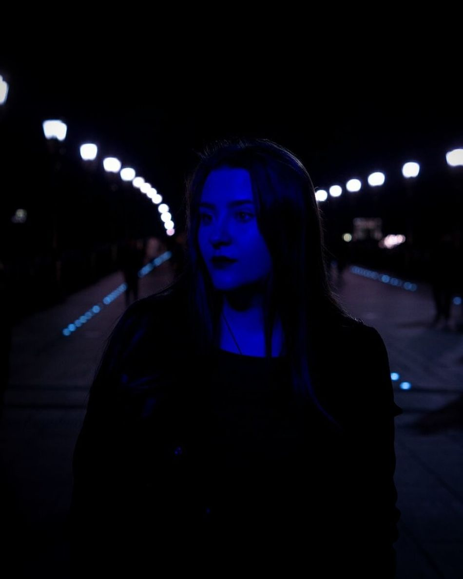 One Person People Night Neon Moscow City Followme F4F Follow4follow Moscow City Life Sky Flowers City Violet Violaceous Rosy Only Women One Woman Only Beauty Beautiful Woman First Eyeem Photo Music Modern No People Arts Culture And Entertainment
