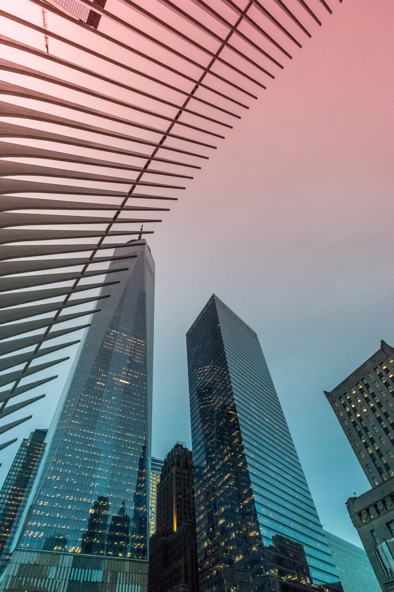 Lines Architecture Building Exterior Built Structure Calatrava City Cityscape Day Low Angle View Modern No People Outdoors Sky Skyscraper Tall