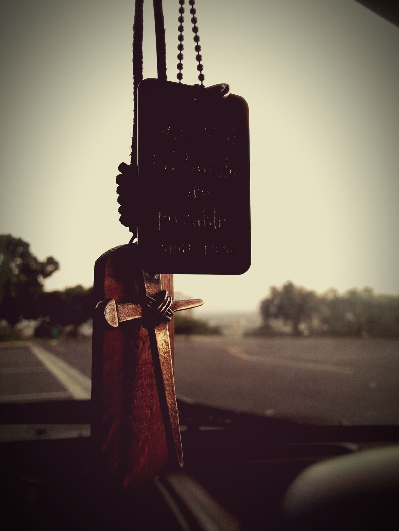 Through Christ All Things Are Possible! From My Rear View Mirror Cross Religious  Christian Hope My Anchor