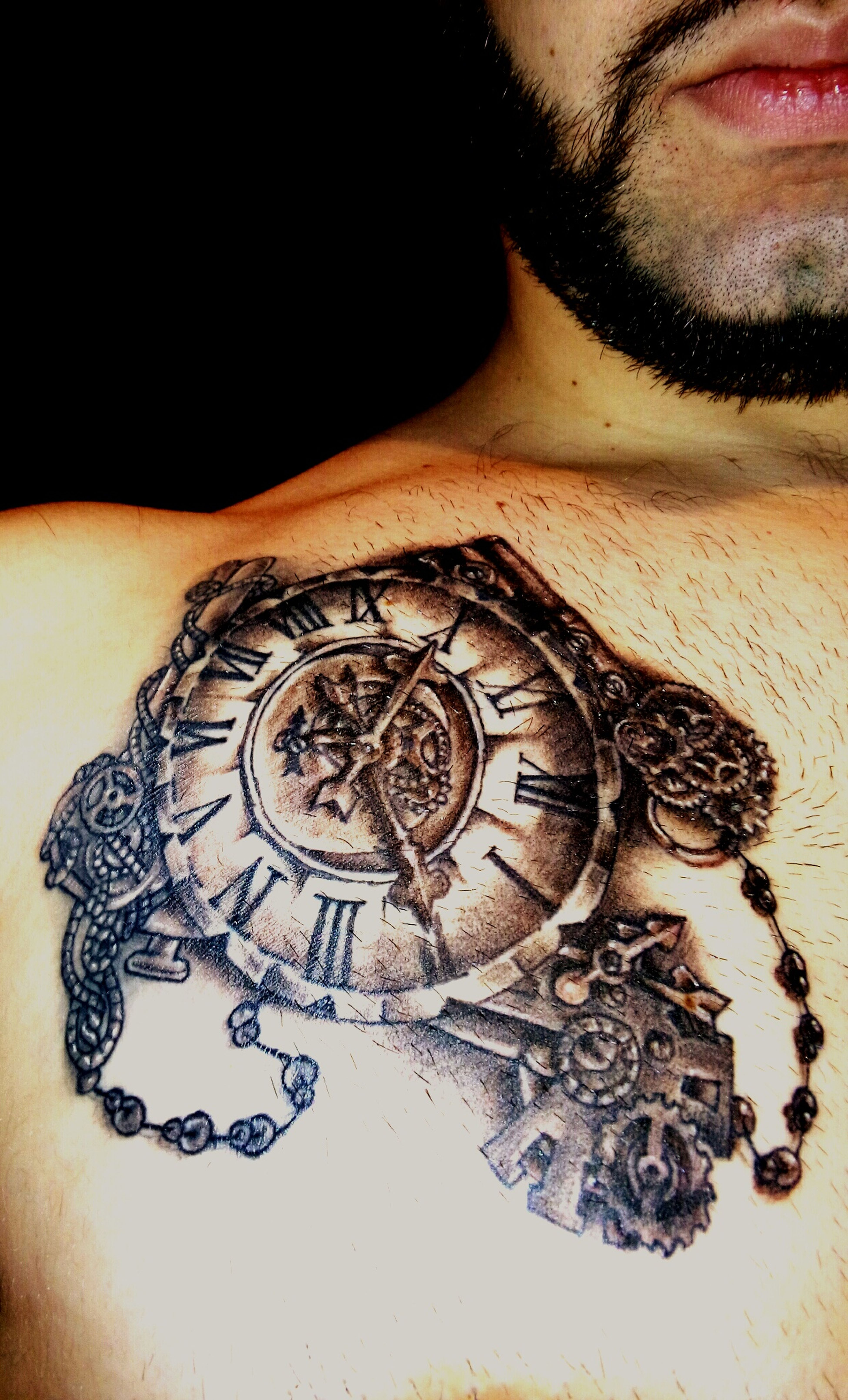 Relaxing Taking Photos Enjoying Life Beardlife That's Me Awesome Newtattoo Tattoo Tattoos Clock Tattoo