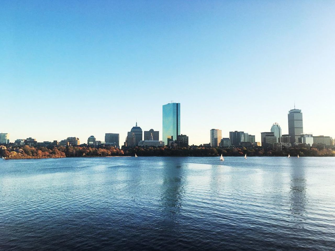 Architecture Blue Boston, Massachusetts Building Exterior City Cityscape Nature No People Outdoors Sky Skyline Urban Skyline Waterfront