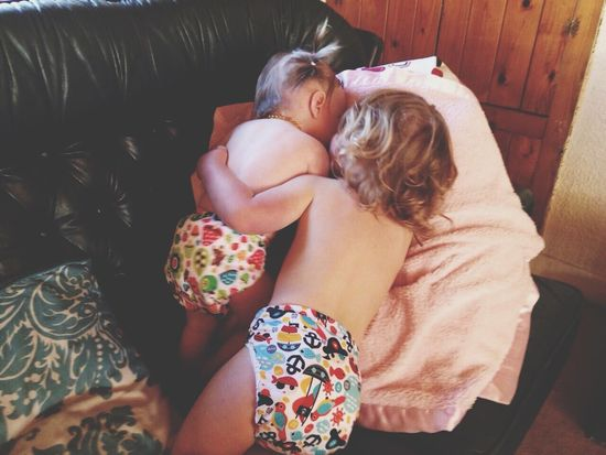 Childhood Cloth Cloth Diapers Cute Friendship Happiness Innocence Lifestyles Make Cloth Mainstream Pigtails  Real People Relaxation Sibling Love Siblings WoodLand Diapers Baby EyeEm Best Shots Eye4photography