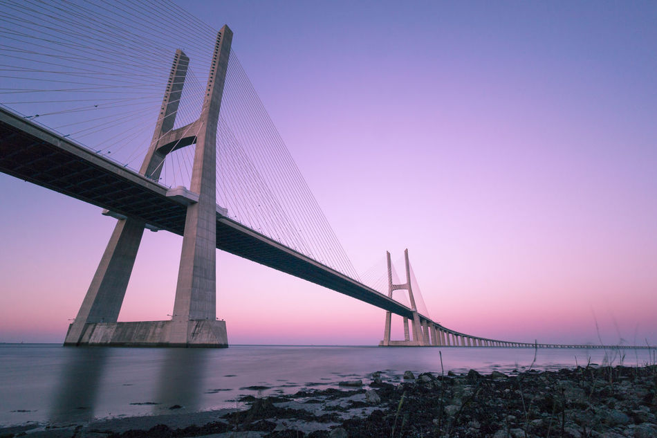 Beautiful stock photos of portugal, Beach, Beauty In Nature, Bridge - Man Made Structure, Built Structure