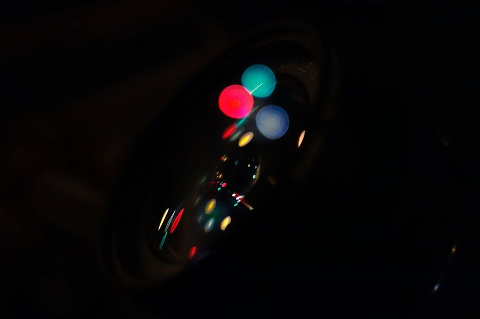 reflection of camera lens. Night Lighting Equipment No People Technology Close-up Black Background Outdoors Nightphotography Night Lights Lens Refrection Light Light And Shadow Lights Shadow Shadows & Lights Beautiful Rx100 Sony
