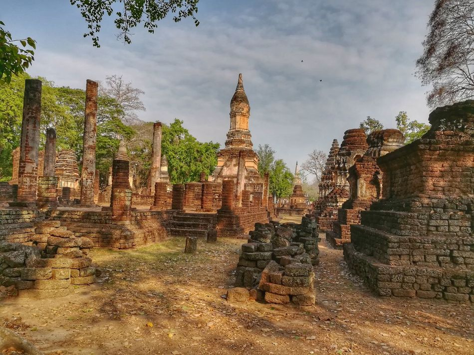 Religion Architecture Cultures History Built Structure Archival Sukhothai, Thailand Buddhist Temple Huaweiphotography EyeEm Gallery History Place Tourism Eyeemthailand Si Satchanalai Historical Park