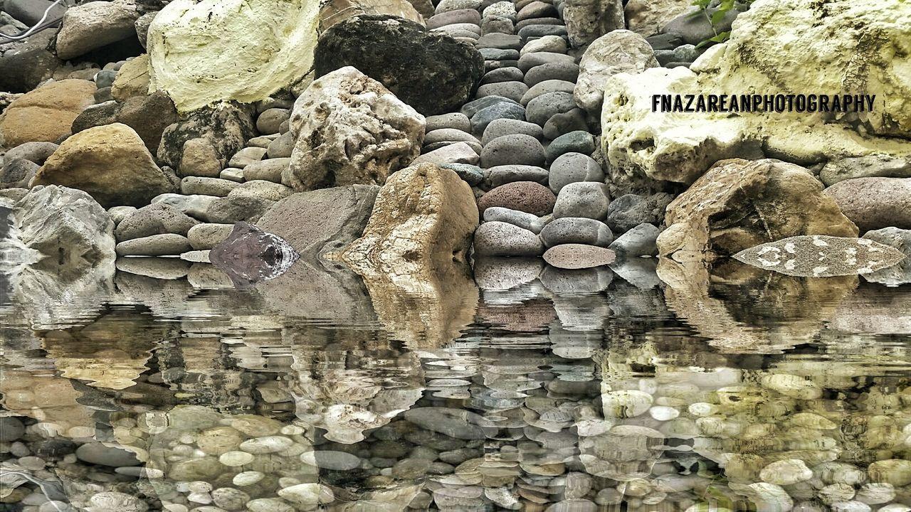 Stone Wall Water Pebble Stonestructures Bisayanibai Stones & Water Tranquility BisayaNaAko Outdoors