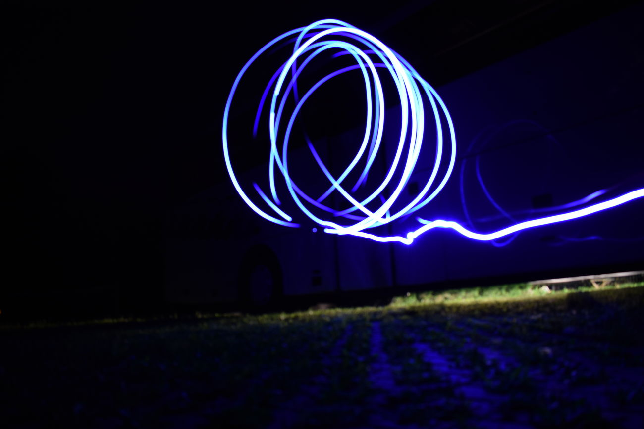 Illuminated Night Light Trail Long Exposure Speed Motion Abstract Outdoors EyeEmNewHere Blue All_shots Photography Neon Expression Summer