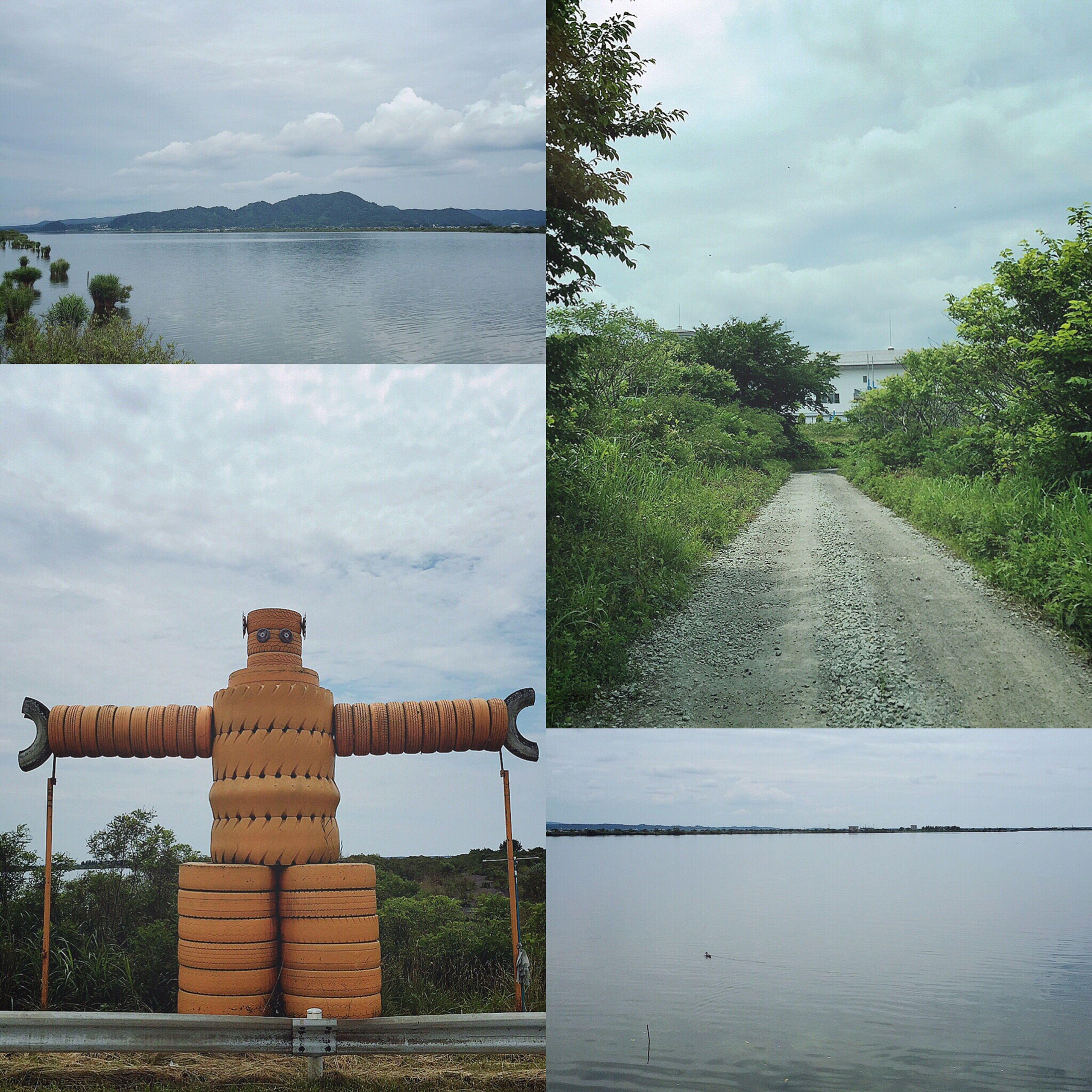 """秋田山形日記 DAY 2 ナビ子 この旅で、いちばん頼りにしていたモノは、新しいカーナビ🚘✨ だけど、よく道に迷って目的地から遠回りしたり、立ち入り禁止エリアに案内したり… """"ナビ子""""とは、よく喧嘩してましたww😜 どこまでも続く、まっすぐのじゃり道をひたすら走らせては行き止まりだった写真。 これもまた旅の記念として撮ったけど、内心は不安で心配で怖かったです😅📱💦 黄色いタイヤでできた謎のロボットみたいなモノは、けっこうな存在感で、おもしろかったので撮りました。笑🤖💛 最新のナビ子がいたけど、よく道に迷った旅でもありました〜🙃🙂🙃🙂🚙💦 つづく。 秋田山形日記 秋田 旅行記 旅行 旅 カーナビ ナビ ナビ子 ロボット タイヤ じゃり道"""