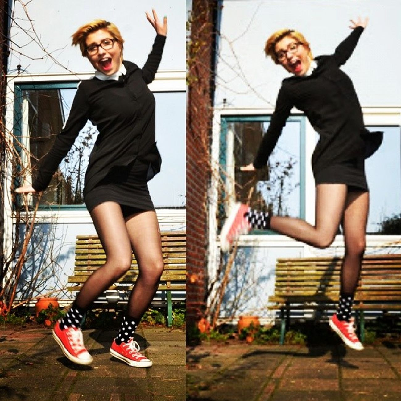Jump Double Trouble Self Portrait Smile