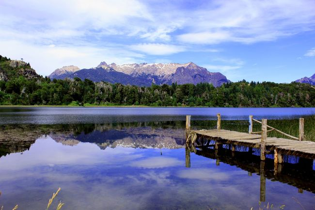 Argentina Bariloche Lagoon El Trébol Lake Mountain Mountain Range Outdoors Reflection Relaxing Moments Tranquility Voyage Water Landscapes With WhiteWall EyeEm x WhiteWall: Landscapes