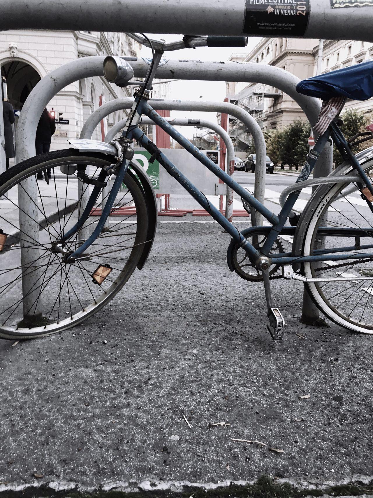 Bicycle Wheel Bicycle Rack Street Photography