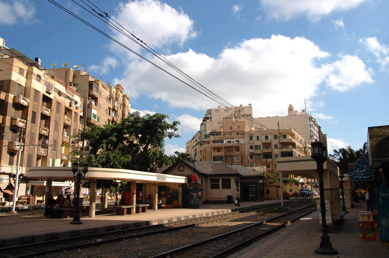 Alexandria Egypt Architecture Building Exterior Built Structure City City Gate City Life City Street Cloud - Sky Day No People Outdoors Sky Station Tram