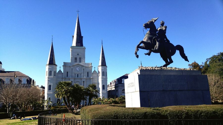 St. Louis Cathedral Cathedral St. Louis Cathedral French Quarter Jackson Square Statue Monument Church Park The Architect - 2016 EyeEm Awards