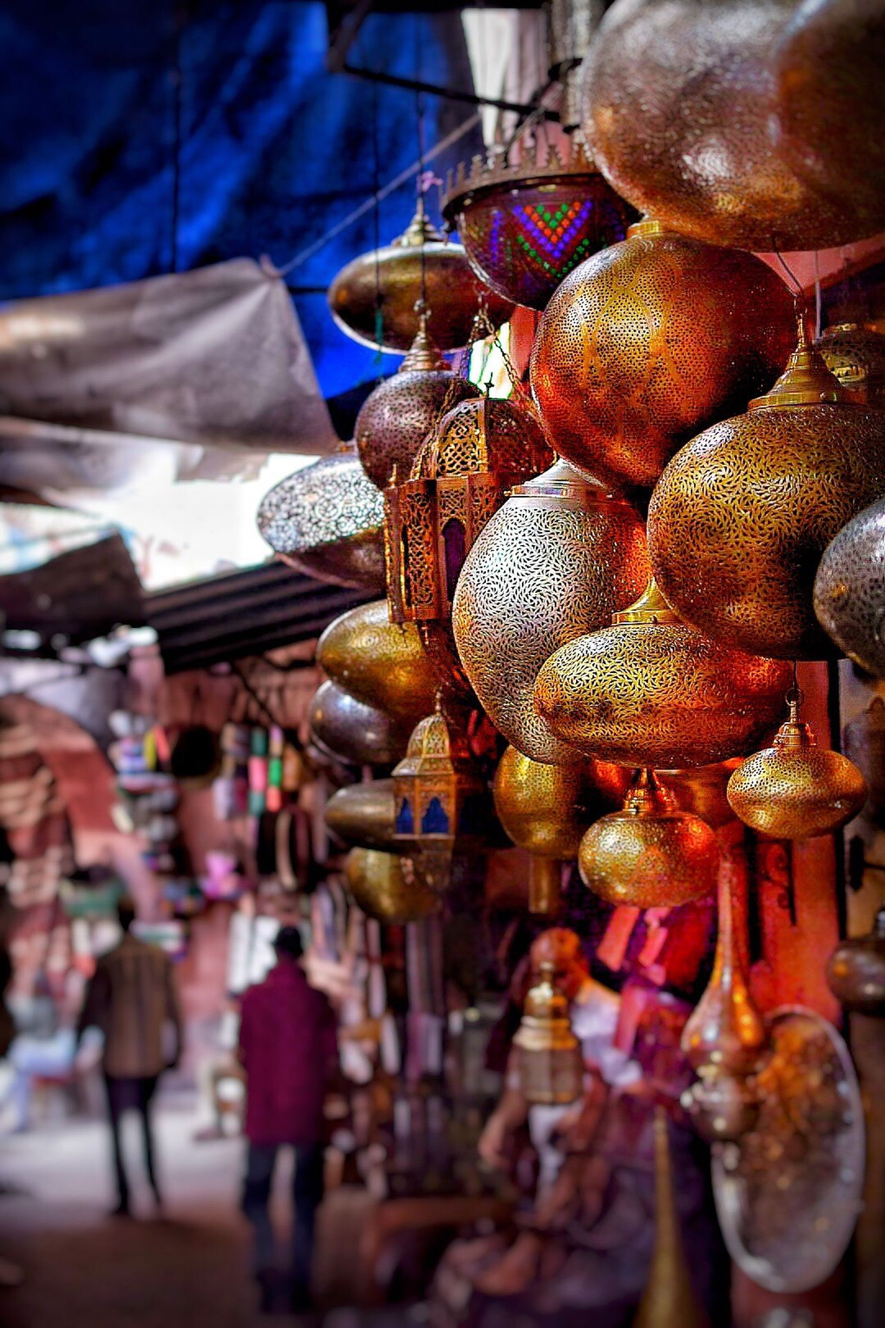 Hanging Large Group Of Objects Market For Sale Variation Choice Retail  Abundance No People Close-up Day Outdoors Marrakech