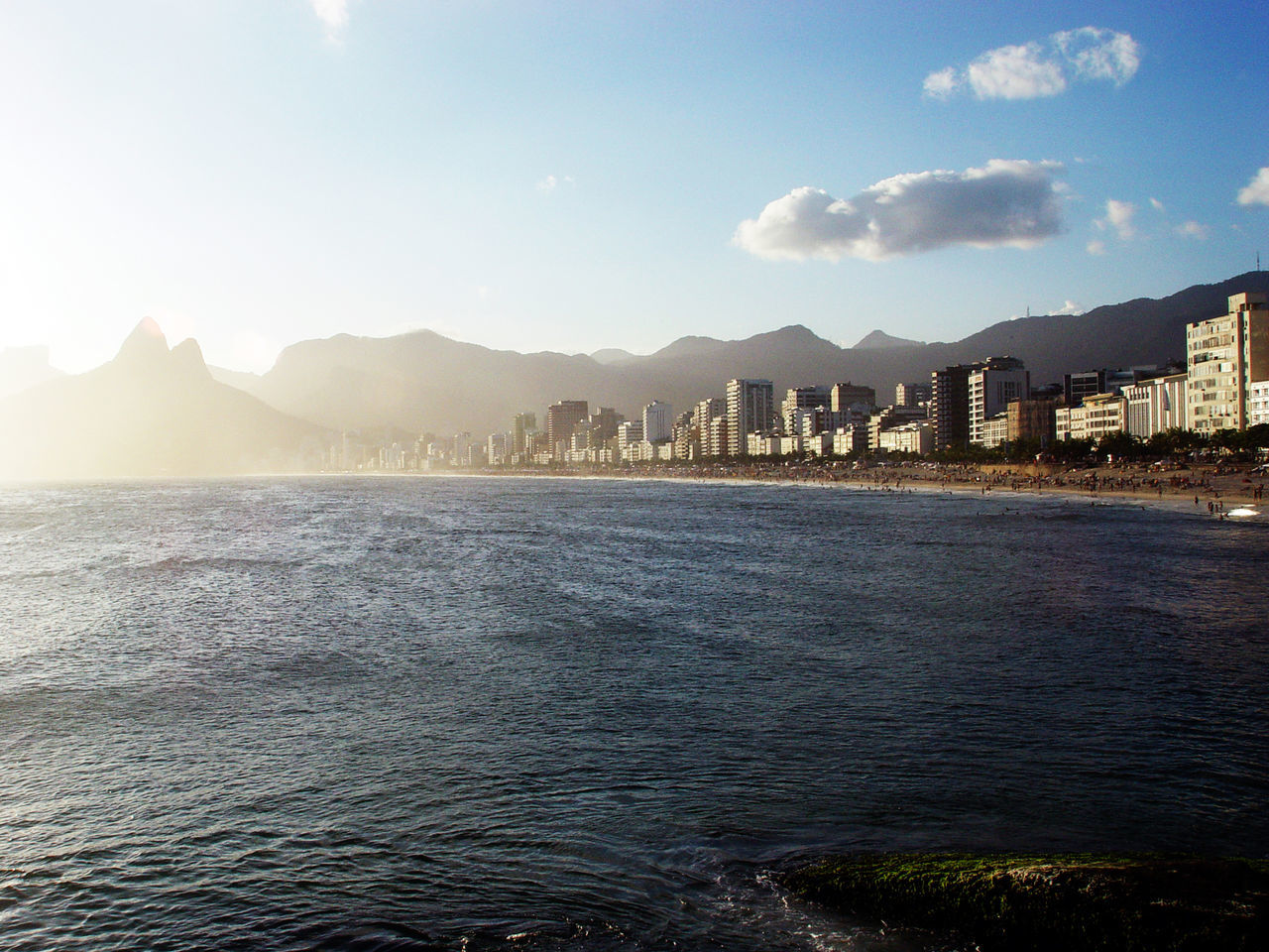 City Cloud - Sky Cultures Ipanema Brazi Landscape Mountain Sea Sunset Travel Destinations Water