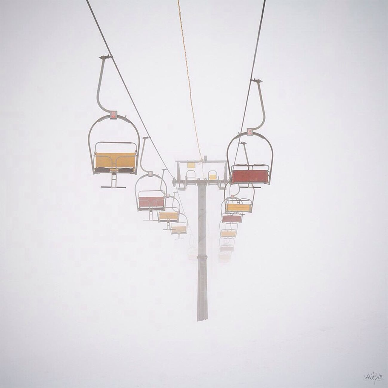 Snow Cold Temperature Winter Ski Lift White White Color Day Canon400d Mountains Dombay Landscape Minimalism No People