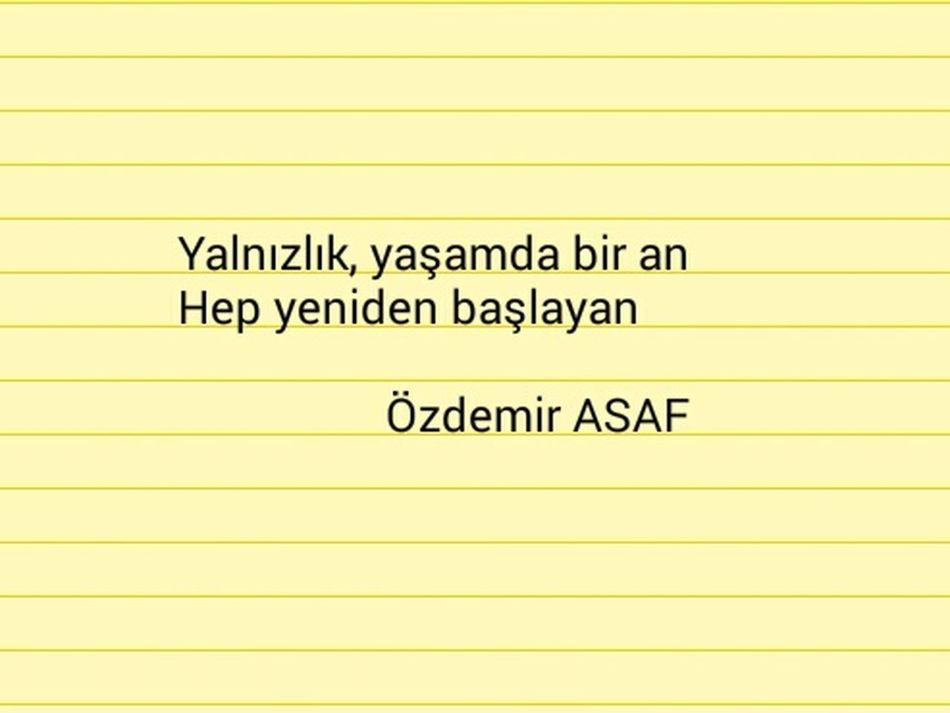 Özdemir Asaf şiir Sokakta şiir Heryerde Istanbul Poem Yalnızlık Mersin