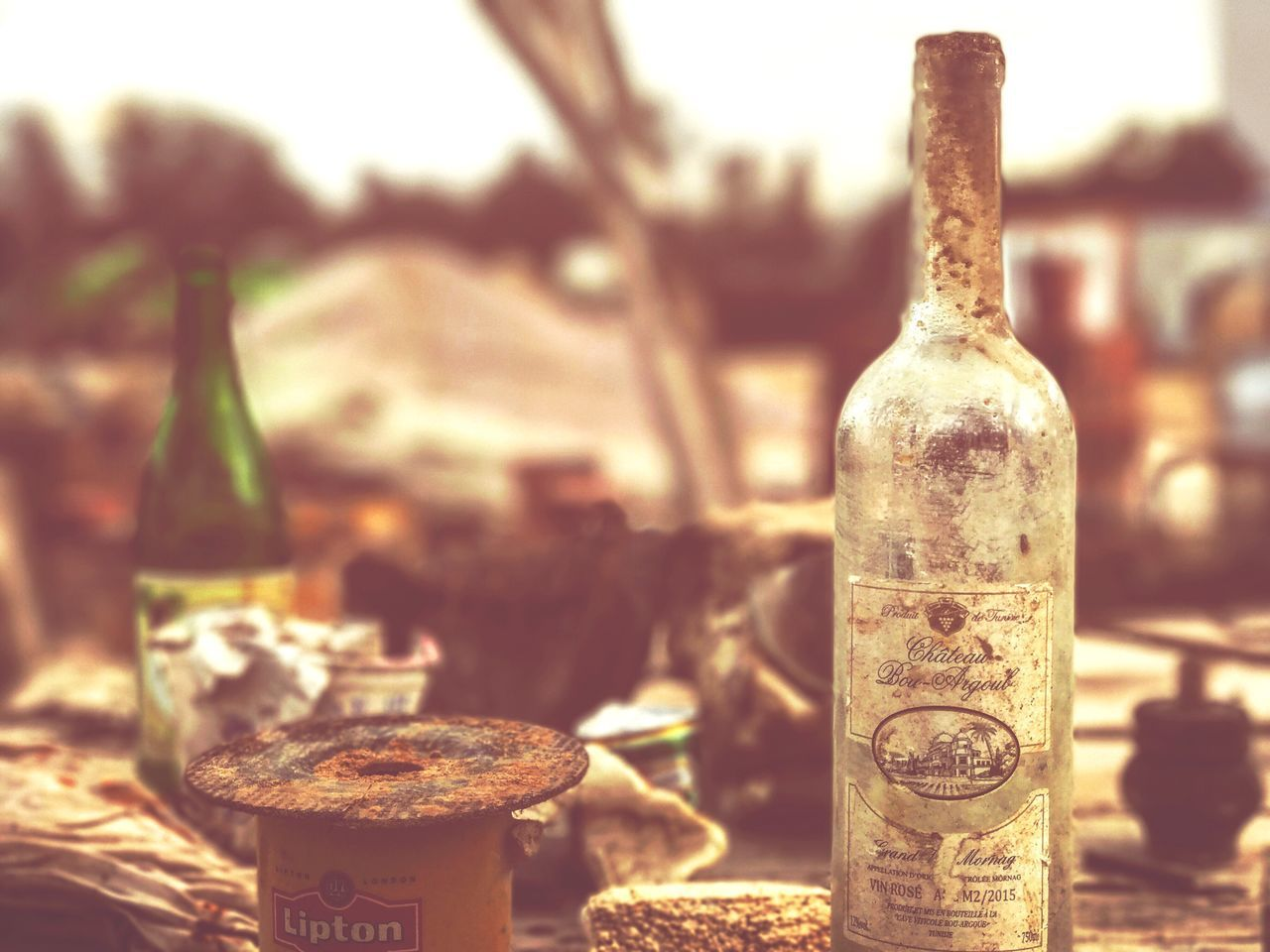 bottle, close-up, no people, focus on foreground, outdoors, day, cork - stopper, drink, alcohol