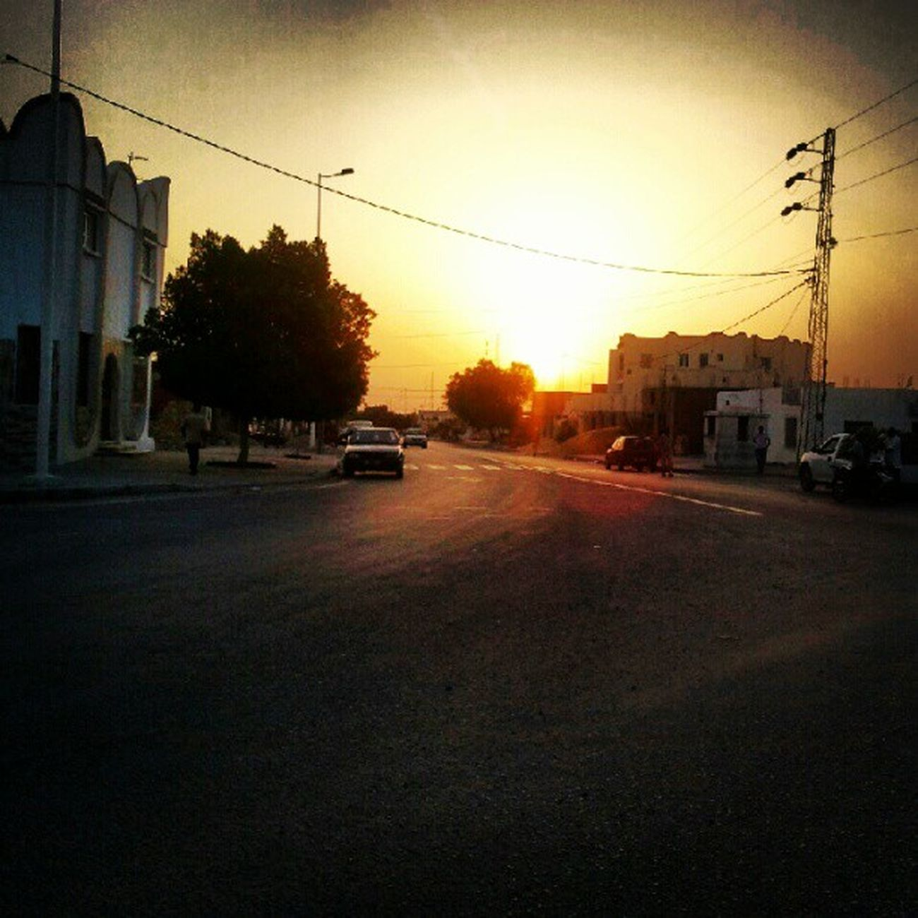 Sunlight Coucher  de Soleil Kebili vers Tozeur Tunisie Tunisia 9Ramdan