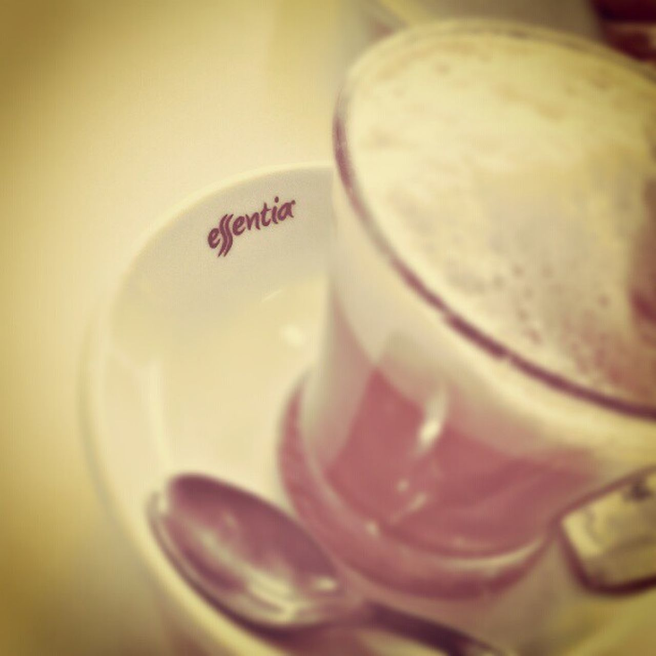 food and drink, selective focus, close-up, drink, no people, text, indoors, freshness, healthy eating, food, frothy drink, day