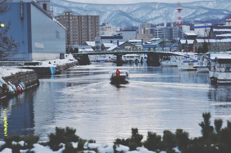 Canal Ship Today's Hot Look My Country In A Photo ClubD300 It's Cold Outside Otaru Canal Street