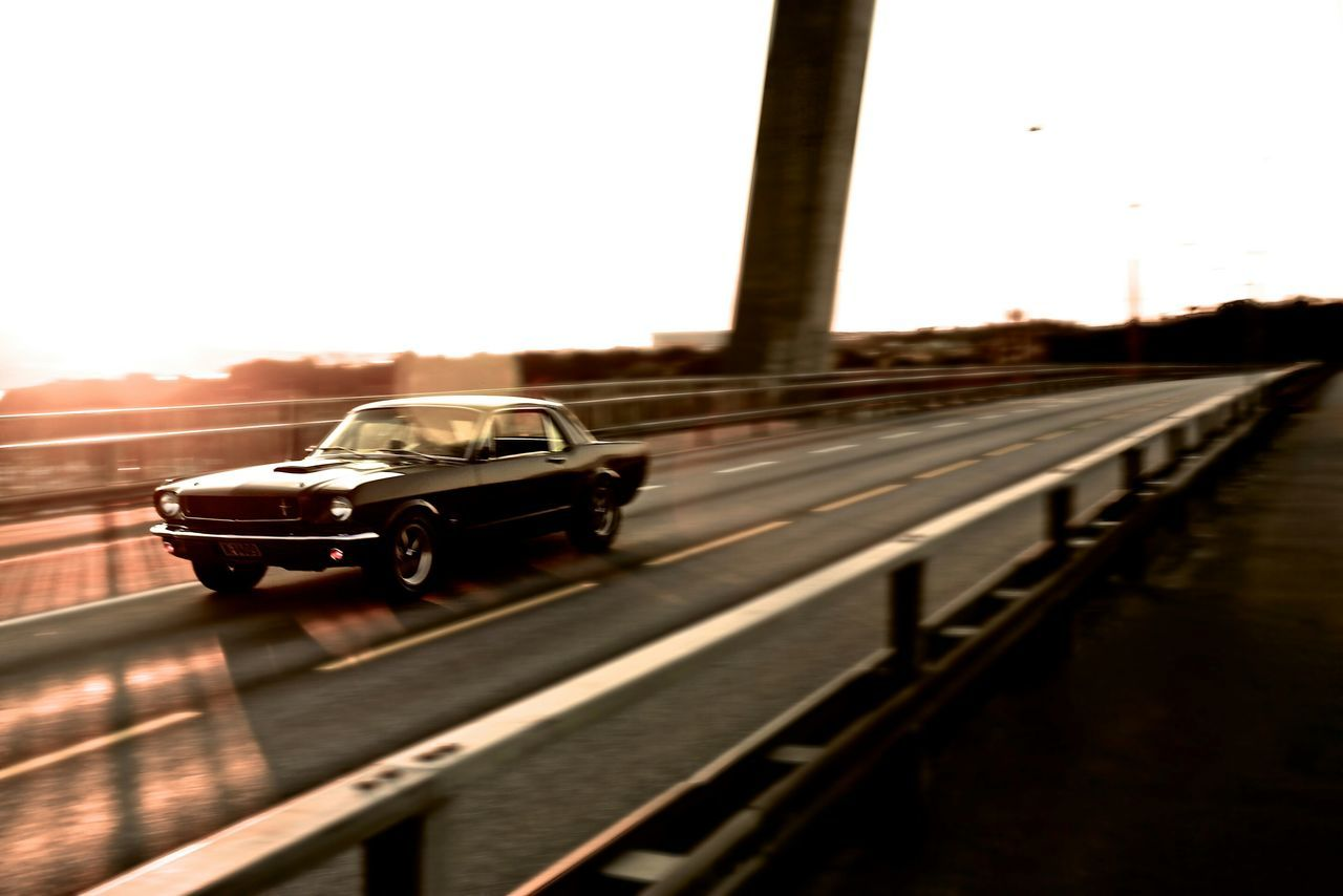 68' Ford Mustang Sunset Bridge