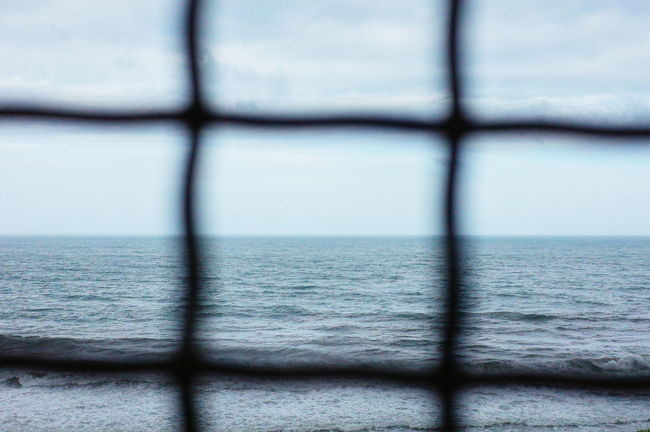 EyeEm Taiwan EyeEm Best Shots EyeEm Sea Ocean Ricoh Gr Scenics Sightseeing Railroad Station Coastal Nature Nature_collection Journey Looking To The Other Side Look Far Wire Fence Wire Mesh Wire Fence Steel Wire Mesh Showcase July
